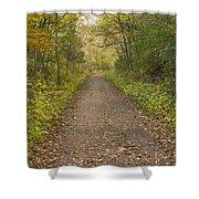 Fall Trail Scene 48 Shower Curtain