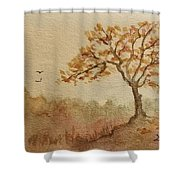 Fall Tree Shower Curtain