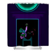 Fall Violet Shower Curtain