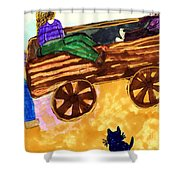 Fall Wagon Ride Shower Curtain