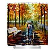 Fall  White Umbrella Shower Curtain
