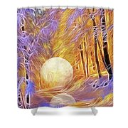 Falled Moon Shower Curtain