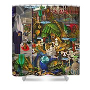 The Evil Trick Shower Curtain