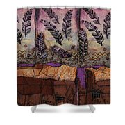 Fallen Feathers  Shower Curtain