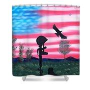 Fallen Soldier Shower Curtain