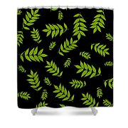 Falling Ash Leaves  Shower Curtain