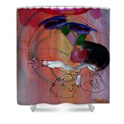 Falling Boy Shower Curtain