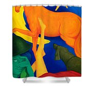 Falling Down. Shower Curtain