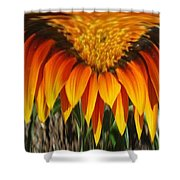 Falling Fire Shower Curtain