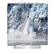 Falling Ice In Alaska Shower Curtain