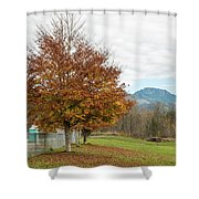 Falling Leaves In Silo Park Shower Curtain