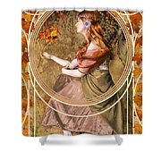 Falling Leaves Shower Curtain by John Edwards