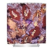 Falling Leave's Shower Curtain