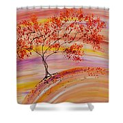 Falling On A Hill Shower Curtain