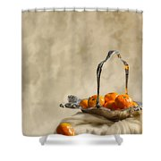Falling Oranges Shower Curtain