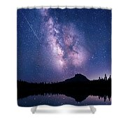 Falling Star Over The Sierras Shower Curtain