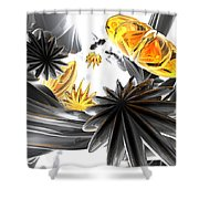 Falling Stars Abstract Shower Curtain