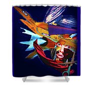 Falling To Pieces Shower Curtain
