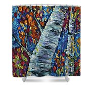 Falll In Rockies - Left Panel Shower Curtain
