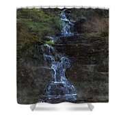 Falls At 6 Mile Creek Ithaca N.y. Shower Curtain
