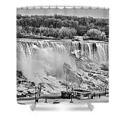 Falls Black And White Shower Curtain