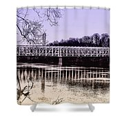 Falls Bridge Shower Curtain