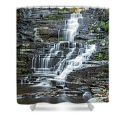 Falls Creek Gorge Trail Ithaca New York Shower Curtain
