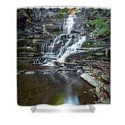Falls Creek Gorge Trail Reflection Shower Curtain