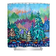 Fall's Fever Shower Curtain