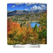 Fall's Finery At Rock Creek Lake Shower Curtain