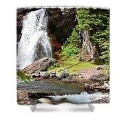 Falls Glacier National Park1 Shower Curtain