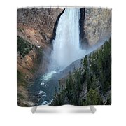 Yellowstone National Park Waterfalls Shower Curtain