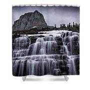 Falls In Glacier Shower Curtain