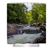 Falls In The Mountains Shower Curtain