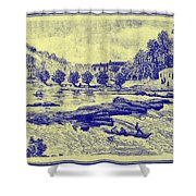 Falls Of The Schuylkill And Fort St Davids 1794 Shower Curtain