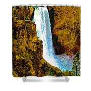 Falls Of The Yellowstone Shower Curtain