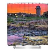 Falls Park Sunset Shower Curtain