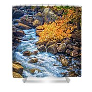 Fall's Rush To South Lake Shower Curtain
