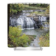 Falls Through The Trees Shower Curtain