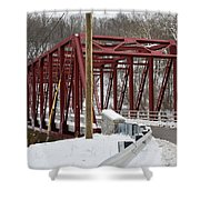 Falls Village Bridge 1 Shower Curtain