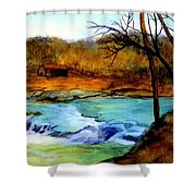 Fallsburg Ky Falls Shower Curtain