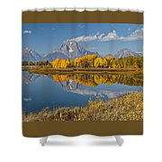Falltime At Oxbow Bend Shower Curtain