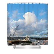 Falmouth Docks Cornwall Shower Curtain