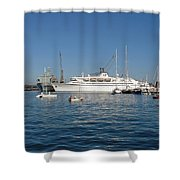 Falmouth Harbour Shower Curtain by Rod Johnson