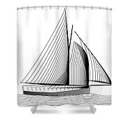 Falmouth Oyster Boat Shower Curtain