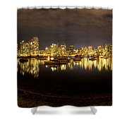 False Creek At Night Shower Curtain