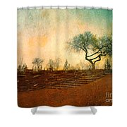 Familiar Like Home Shower Curtain