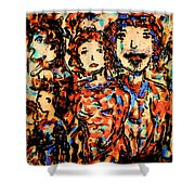 Family And Friends Shower Curtain