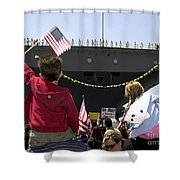 Family And Friends Wait To Welcome Home Shower Curtain by Stocktrek Images