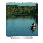 Family Fishing Shower Curtain